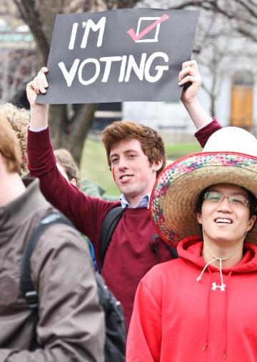 McGill student vote mob 2011